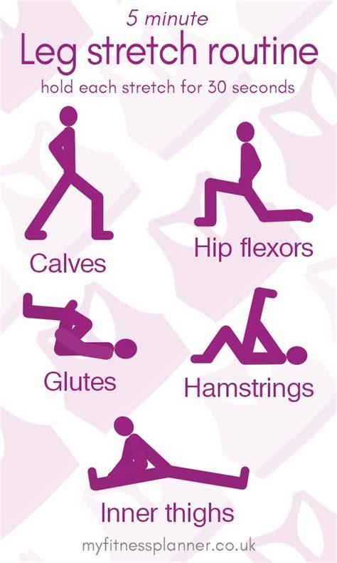 leg stretches  minute routine  improve flexibility  fitness planner flexibility