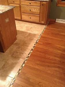 Tile to wood floor transition ideas homesfeed for Wood tile transition
