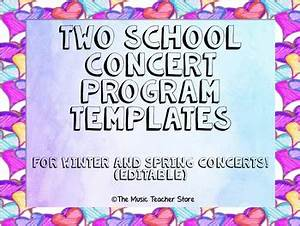 Word Log Template Two School Concert Program Templates For Winter And