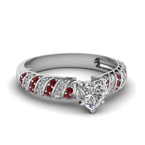 Rope Design Heart Diamond Ring With Ruby In 14k White Gold. Pear Shaped Engagement Wedding Rings. Classic Rings. Elegant Rings. Lace Rings. Honor Guard Rings. R Name Wedding Rings. Dream Wedding Rings. Shop Engagement Rings