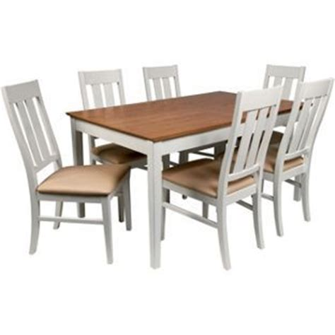 wiltshire two tone dining table 8 chairs from homebase