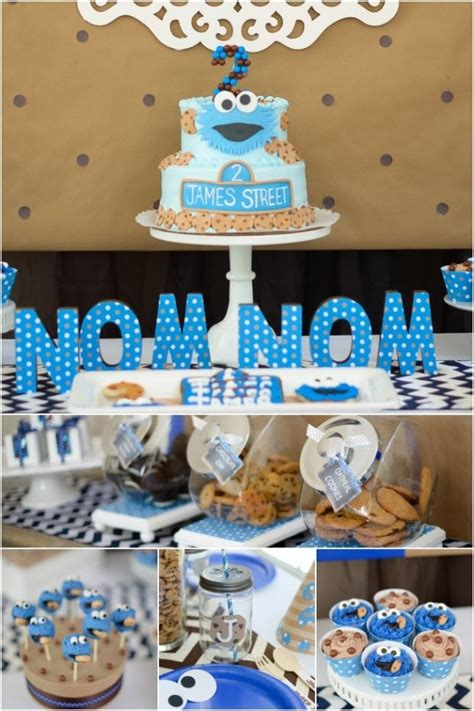 boys cookie monster birthday party spaceships
