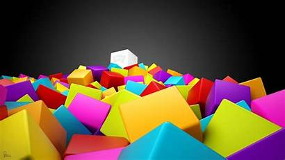 Colorful 1080p Cube Cool Abstract Wallpapers Backgrounds