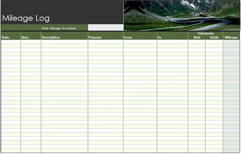 Mileage Log Template 8 Free Sle Mileage Log Templates Printable Sles