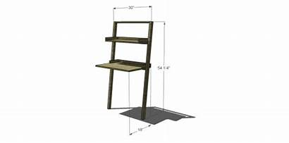 Desk Diy Leaning Plans Build Furniture Nod