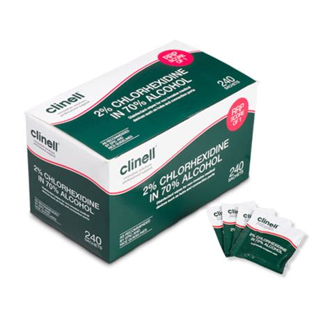 Clinell Chlorhexidine Equipment Wipes - Surface Cleaners