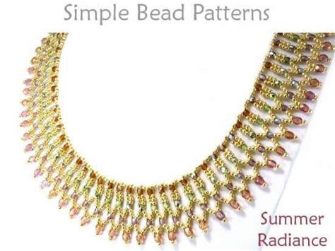 Netted Bead Necklace Pattern Jewelry Making Tutorial