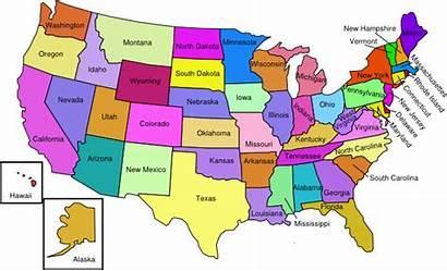 States Map United Usa American State America