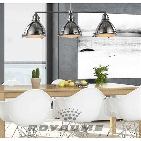 luminaire suspendu cuisine luminaire suspendu de style industriel en métal chrome
