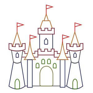 drawing disney castle coloring pages choosboox