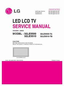 Servicemanuals Lg Tv Lcd 32le5510 32le5510 Service Manual