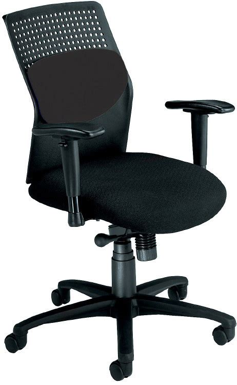 airflo rolling desk chair with black fabric seat and