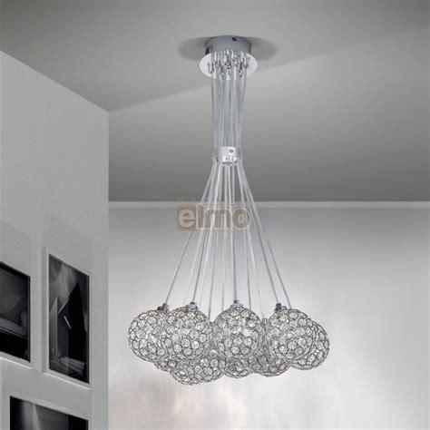 lustre moderne suspension m 233 tal et cristal