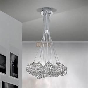 Lustre Cristal Moderne : lustre moderne suspension m tal et cristal ~ Teatrodelosmanantiales.com Idées de Décoration