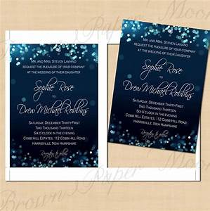 night sky printable wedding invitations 5 x 7 instant With etsy wedding invitations instant download