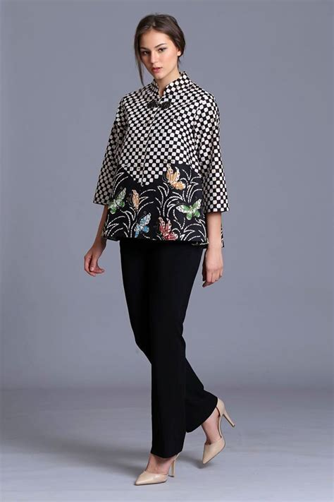model baju batik ideas  pinterest modern