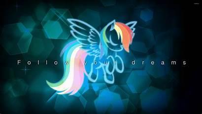 Dash Rainbow Pony Magic Friendship Wallpapers Cartoons