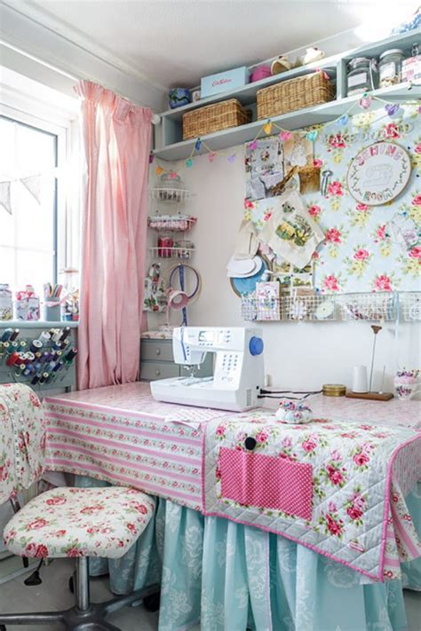shabby chic sewing room the cath kidston inspiration station a fabulous cottage chic home heart handmade uk