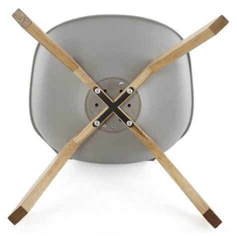 chaise cuir gris chaise moderne style scandinave sirene en simili cuir gris