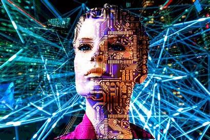 Ai Artist Head Artificial Intelligence Revolution Industrial