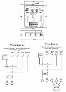 Cycle Sensor Pump Monitor  Wiring Diagram  1ph   U2013 Cycle