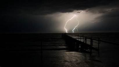 Lightning Storm Thunderstorm Desktop Sea Wallpapersafari Palette