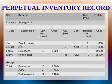 periodic inventory  perpetual inventory