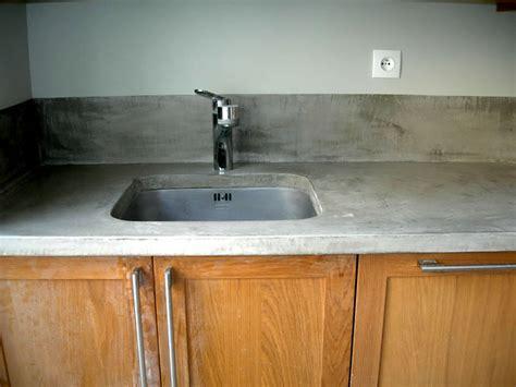 beton pour plan de travail cuisine plan de travail en béton exemples de réalisations en photo