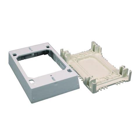Wiremold Non Metallic Piece White Raceway Electrical Box