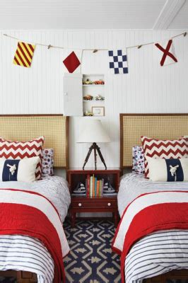 House With Nautically Themed Folk by House And Home Nautical Boys Bedroom Would To Do A