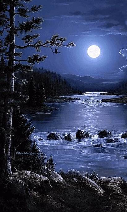 Moon Scenery Mexico Animated Buenas Noches Places