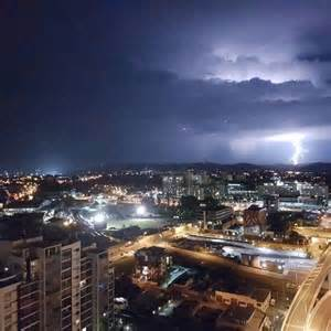 brisbane bureau of meteorology warns more on the way after early morning light show abc