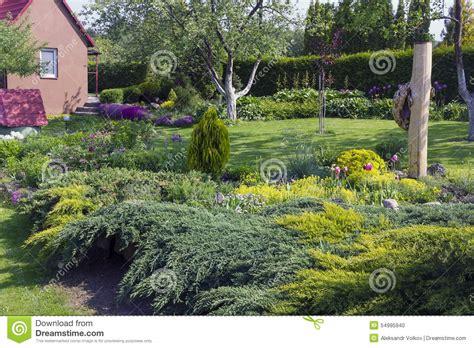 Garden Decorative Bushes by European Garden Stock Photo Image 54995940
