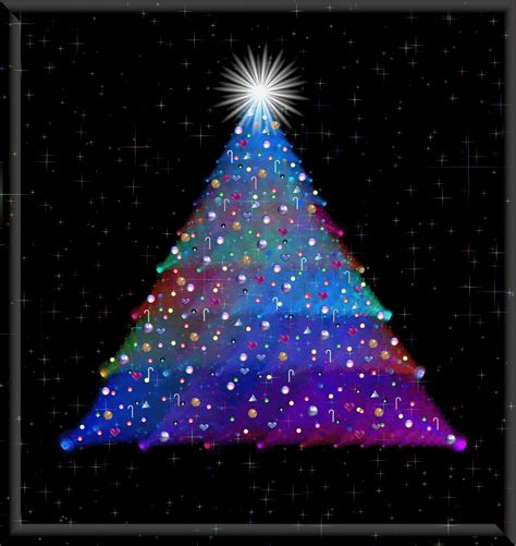 colorful christmas tree lights candles tree glitter