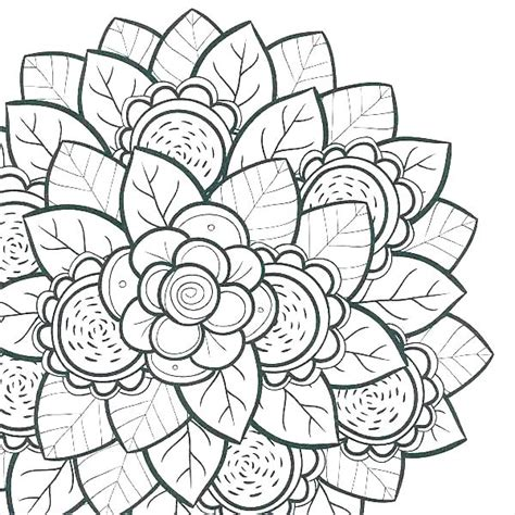 detailed flower coloring pages  getcoloringscom  printable colorings pages  print