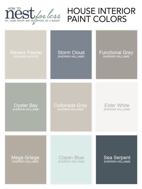 all the paint colors i use in my house how to nest for