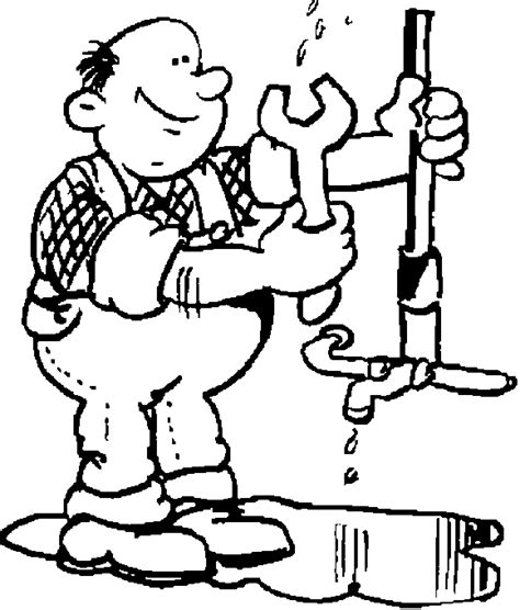 14785 plumber clipart black and white plumber coloring pages