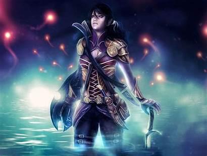 Elf Warrior Fantasy Female 1440 2560 Wallpapers