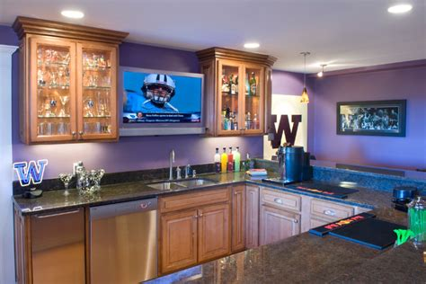 home sports bar contemporary basement seattle