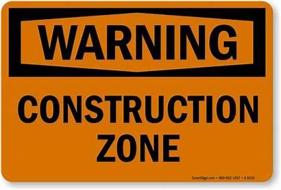 Construction Zone Warning Signs Area Safety Osha