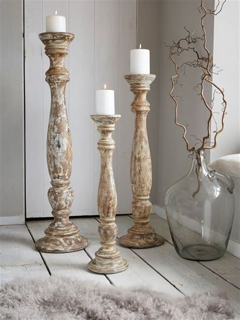 large candle holders large wooden floor candle holders nordic house