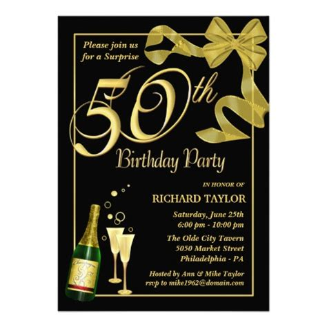 Template For 50th Birthday Invitations Free Printable by 50th Birthday Invitations Ideas Bagvania Free Printable