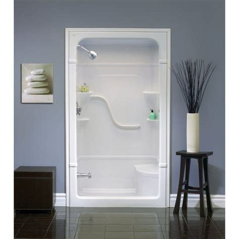 Shower Stall Enclosures by Modern Bathroom With Fiberglass Shower Stall Seat Lowes