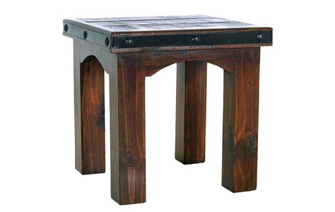 Rustic End Table, Dark Rustic End Table, Wood End Table