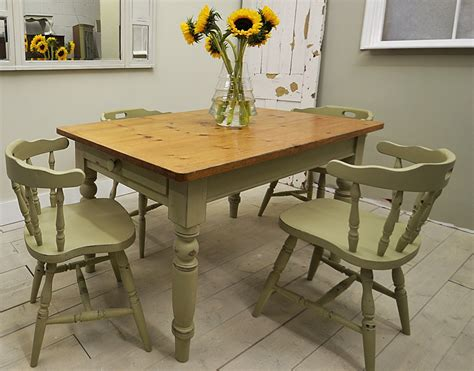 Captain Chairs For Dining Room Table by Shabby Chic Farmhouse Dining Table With 4 Captains Chairs
