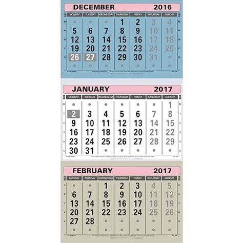 large desk calendar 2017 at a glance large wall calendar 3 month to view 2017 tml