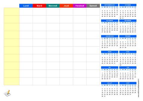 petit bureau noir planning de semaine et agenda à imprimer gratuitement