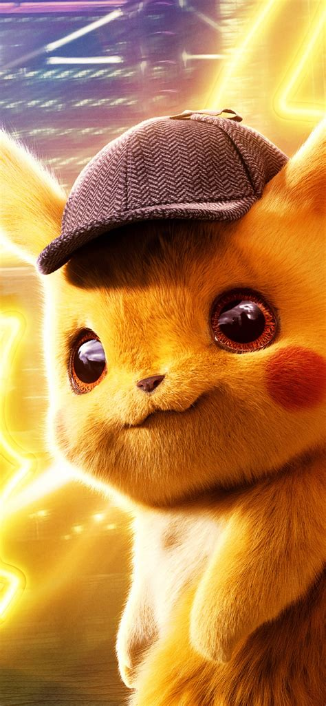 detective pikachu sneaks   iphone wallpapers