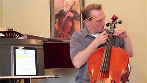 Placing First Position Tapes On A New Cello