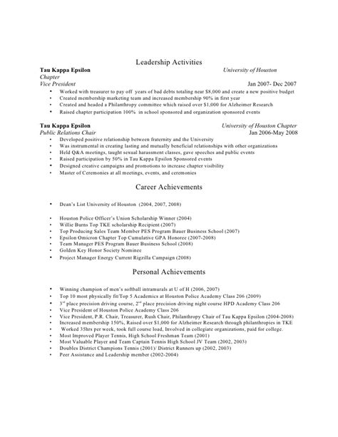 Fraternity President Resume by Resume